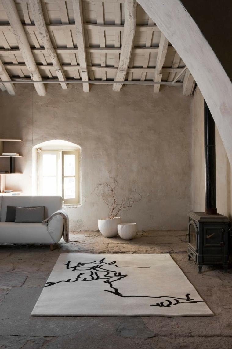 diseño de interiores de estilo wabi-sabi