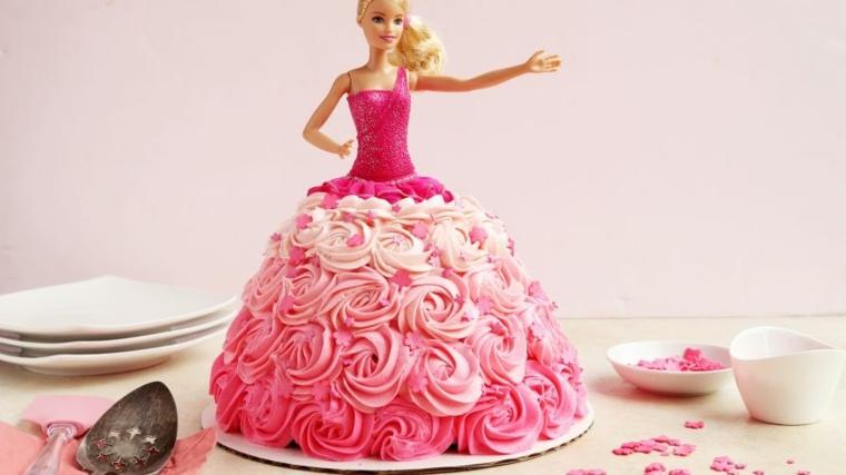 pastel-cumpleanos-barbie-princesa-opciones-originales