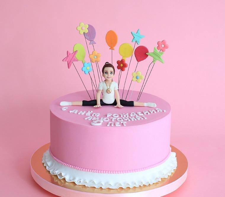 pastel-cumpleanos-nina-gimnasta-opciones-originales