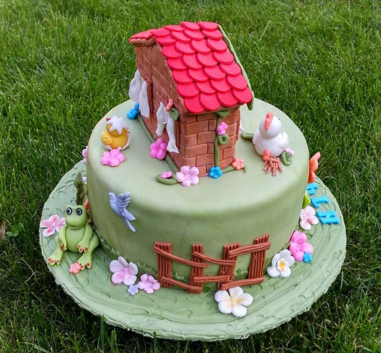pastel-cumpleanos-ninas-casita-ideas-animales