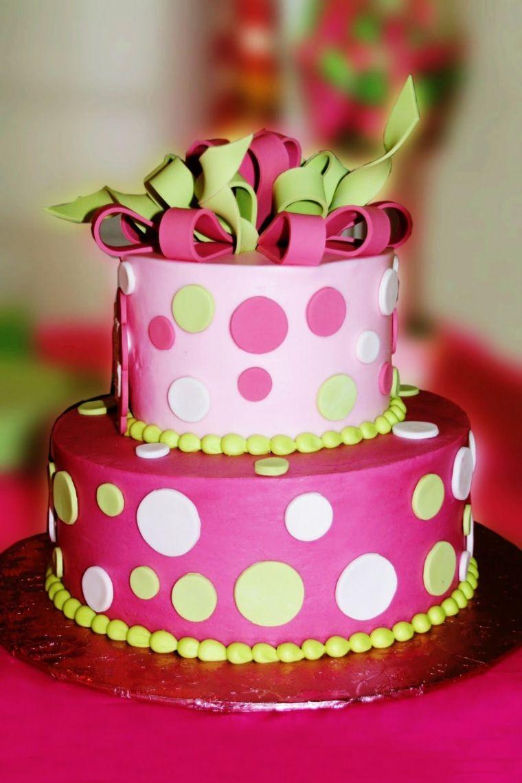 pastel-dos-pisos-rosa-chica-opciones