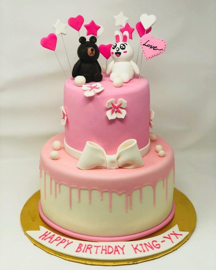 pastel-nina-rosa-blanco-osito-conejito-opciones-decoracion