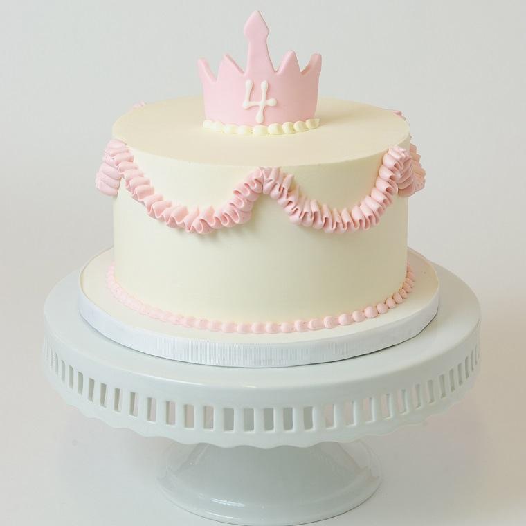 pasteles-para-ninas-corona-princesa-cuatro-anos