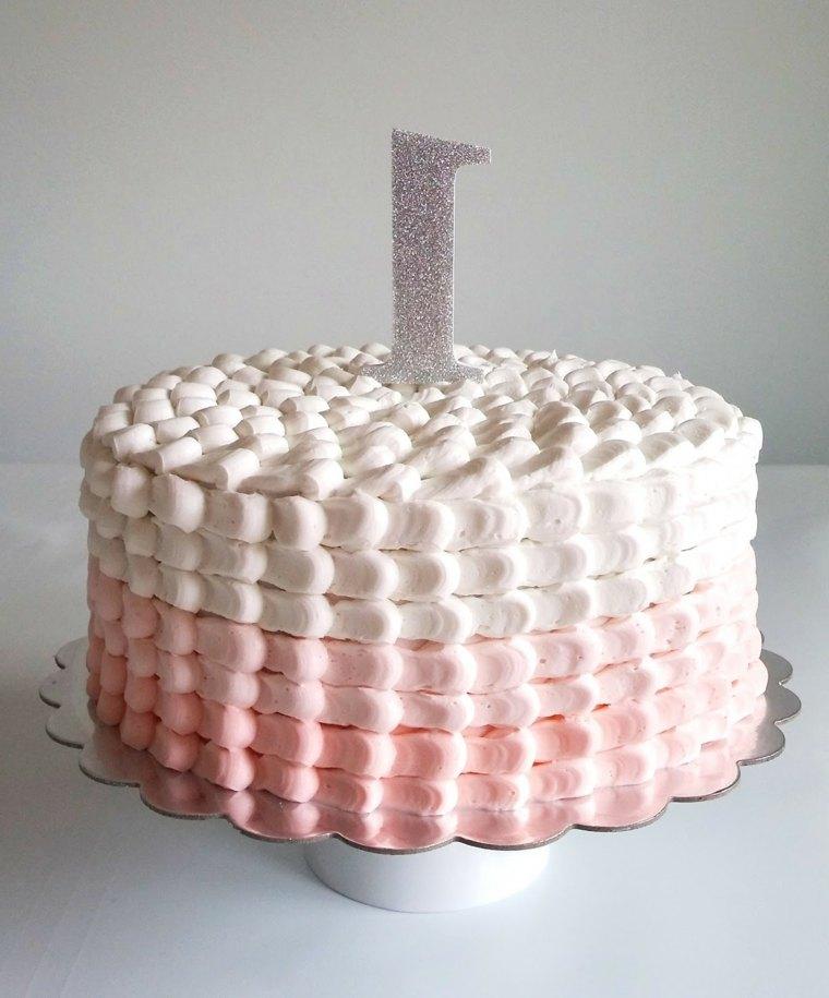 pasteles-para-ninas-ideas-crema-blanca-rosa