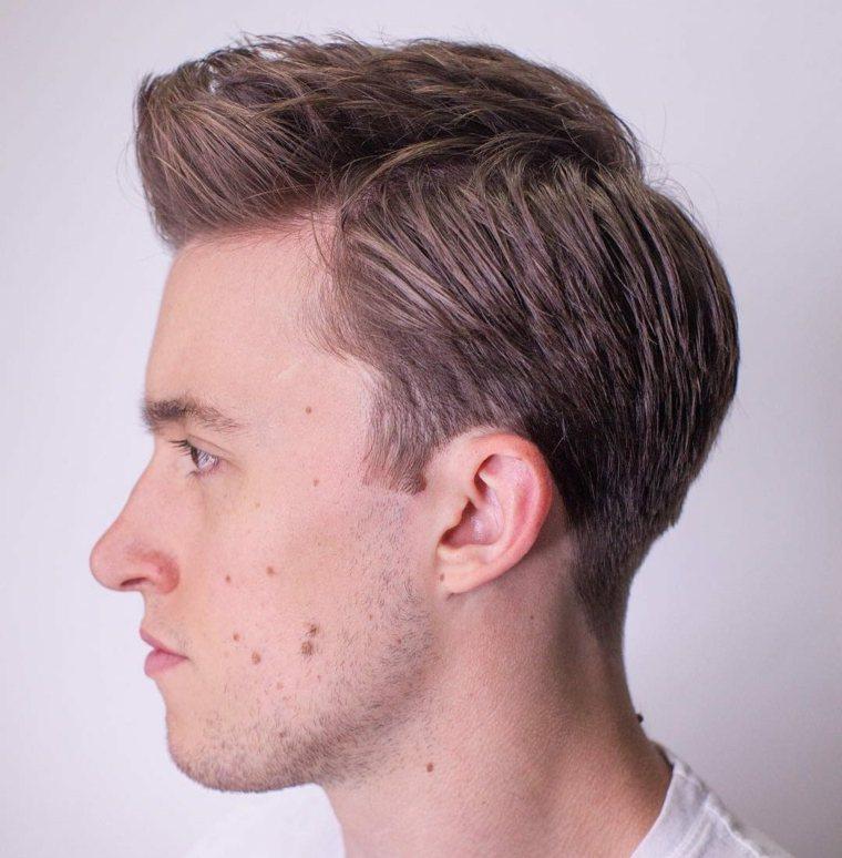 cortes de pelo cónicos - Peinado de la parte lateral