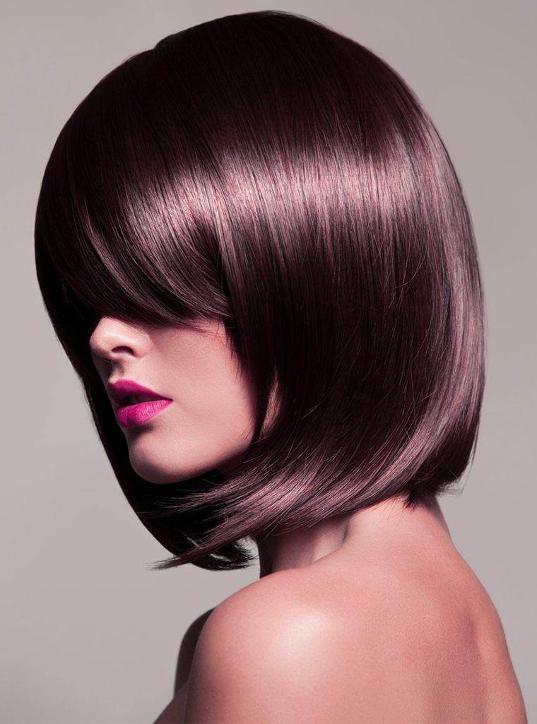 peinados modernos para mujeres-color-malva