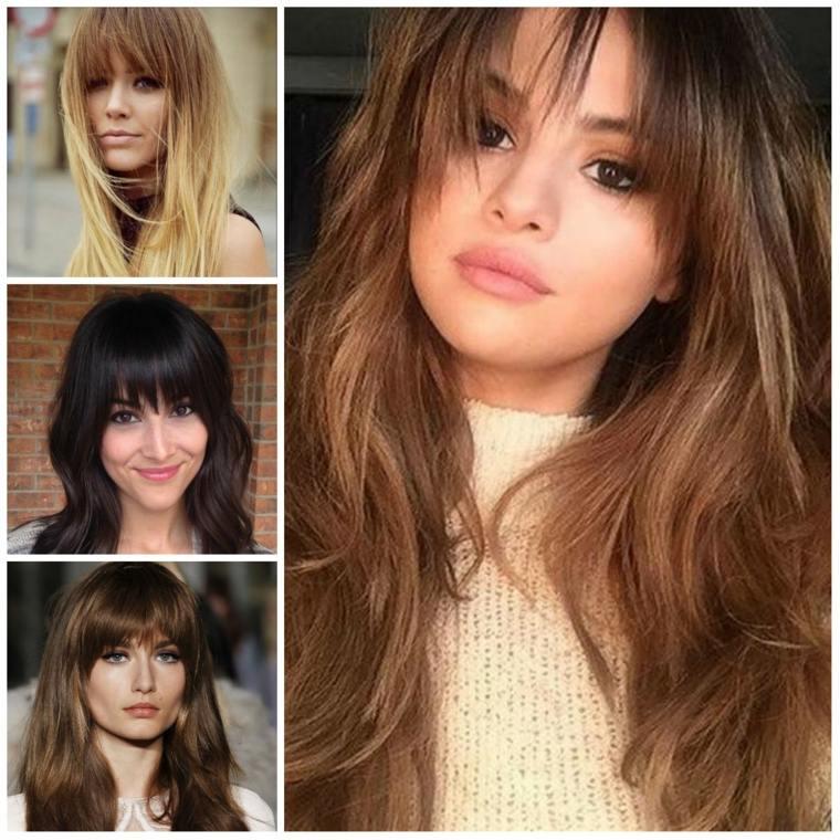 peinados para damas-flequillo-pelo-largo