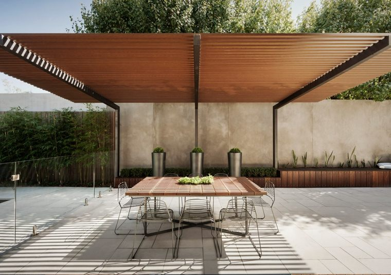 pergolas de madera-contemporaneas-decorar