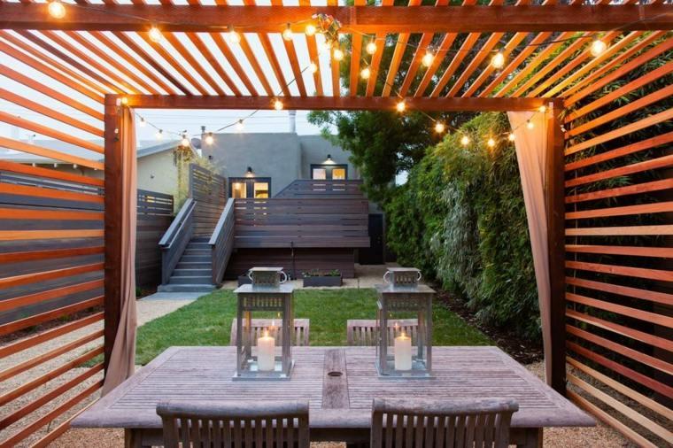 pergolas de madera-modernas-decoracion-jardin