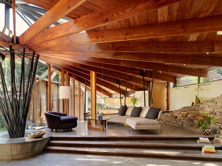 pergolas de madera-modernas-decoracion-jardines