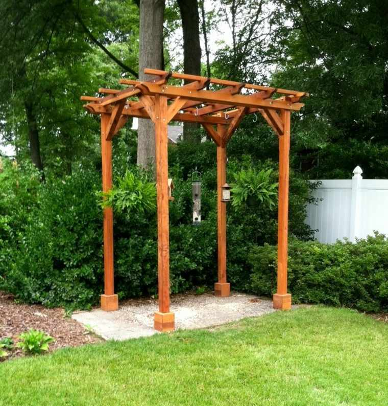 pergolas para jardin-madera-clasicas