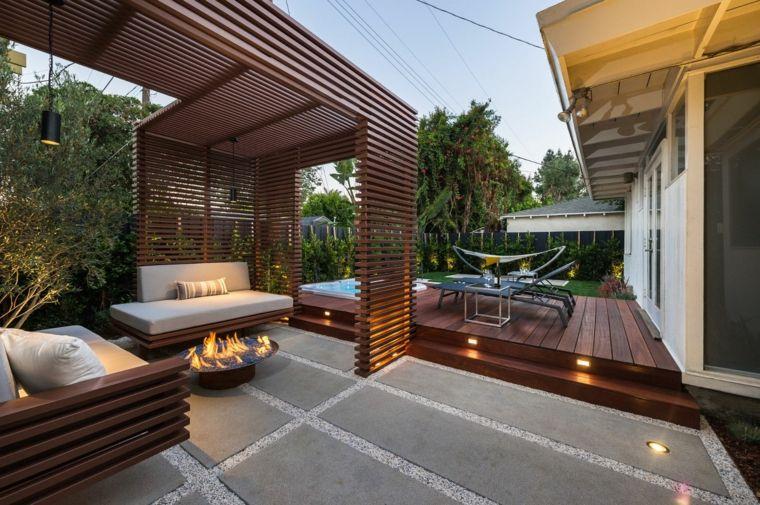 pergolas para jardin-modernas-decorar