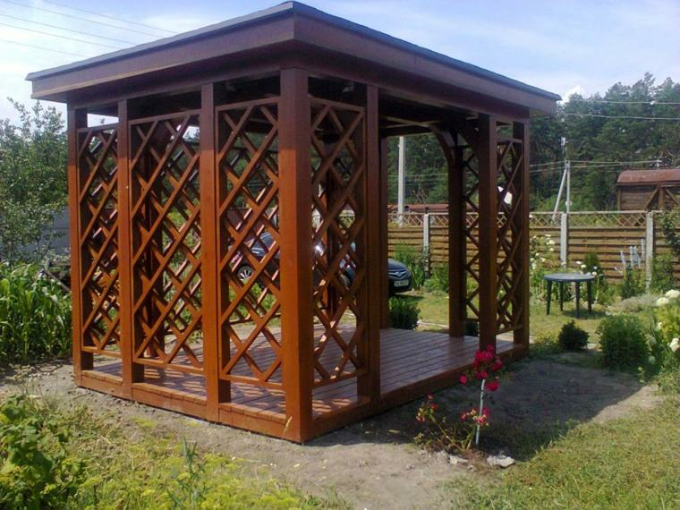 porche de jardin-clasico-madera-decorar