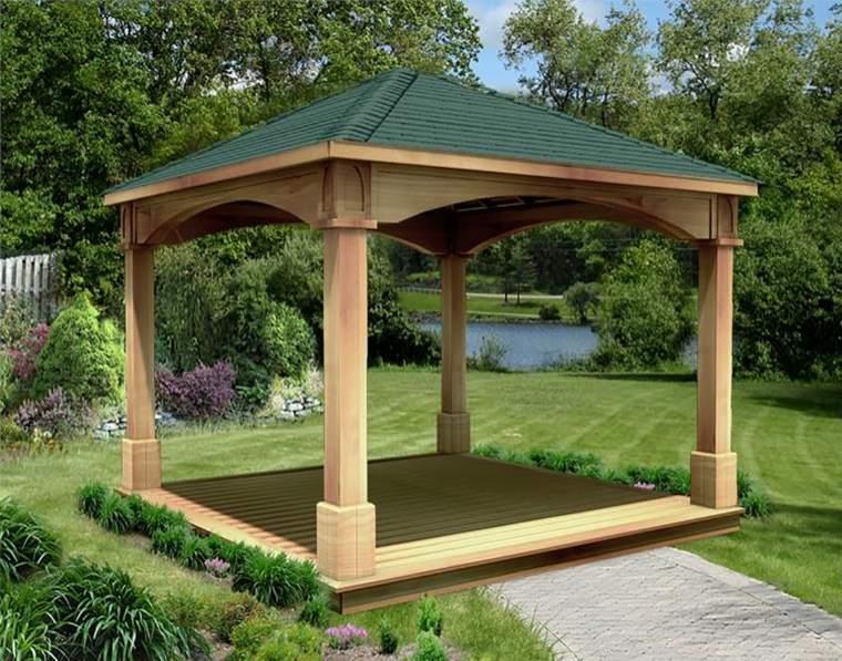 porche de jardin-madera-clasico
