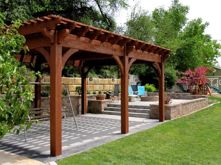 porche de madera para terrazas-clasicas