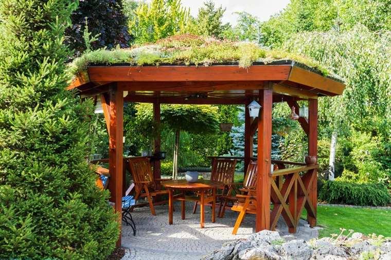 porche de madera para terrazas-decorar