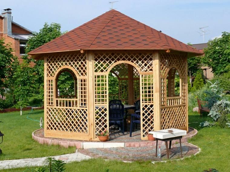 porches de madera-clasicos-decorar-jardines