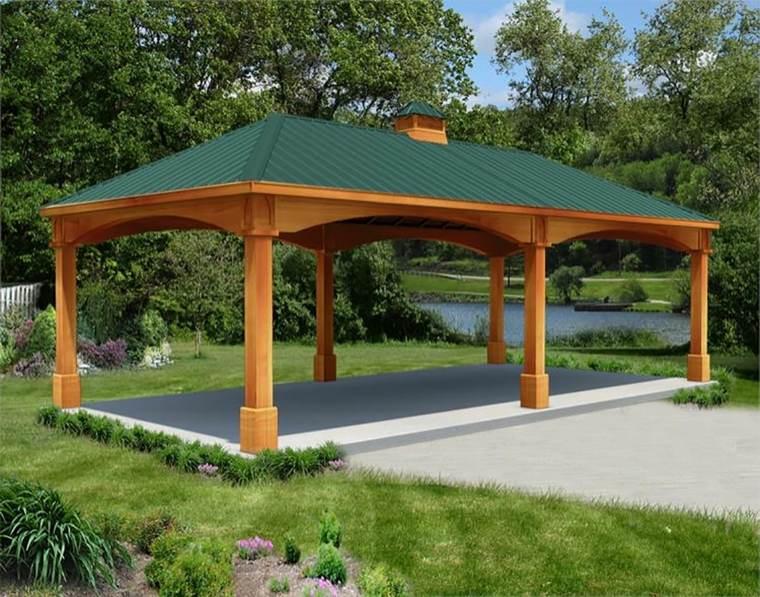 porches de madera-clasicos-jardines