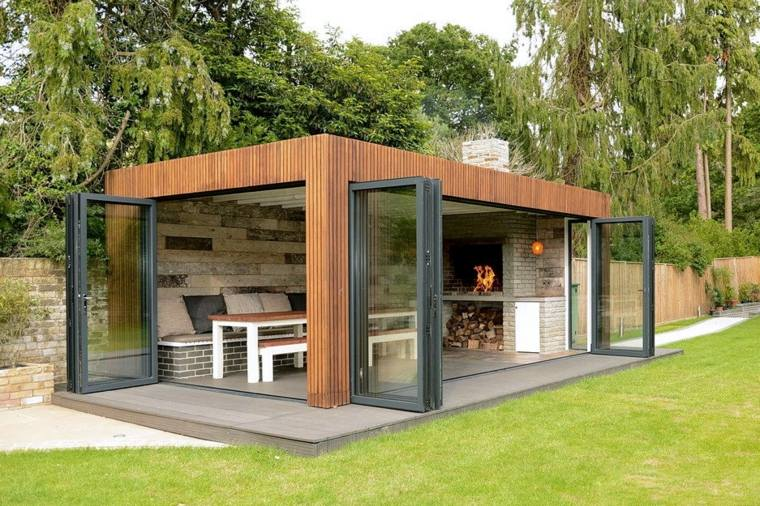 porches de madera-modernos-decorar-jardin