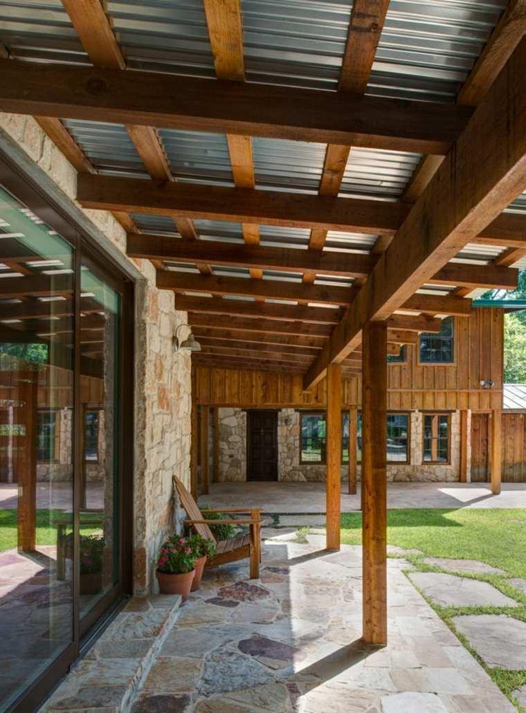 porches de madera modernos