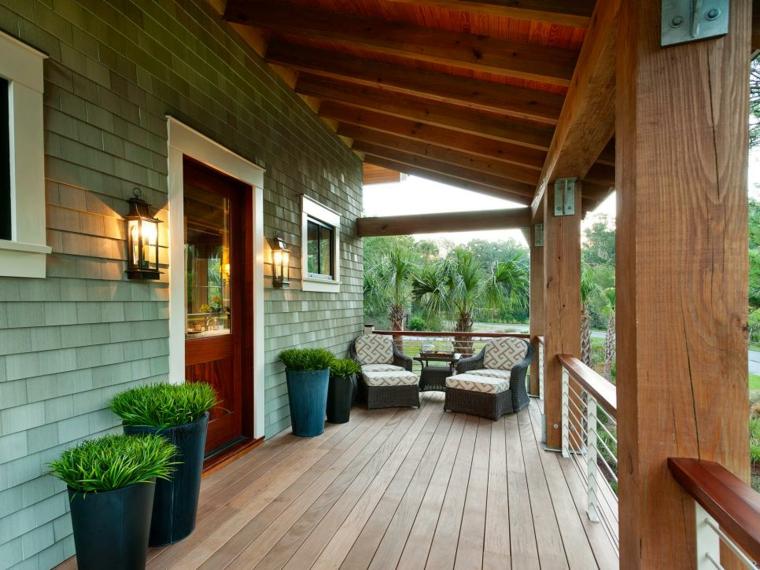 estupendos diseños de porches de madera