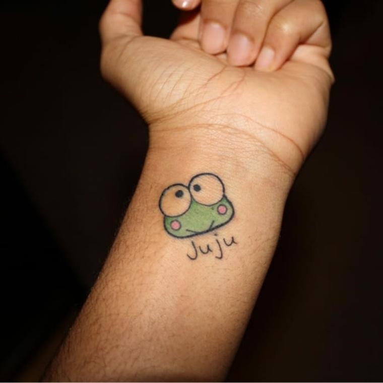 diseño de tatuaje de ranita