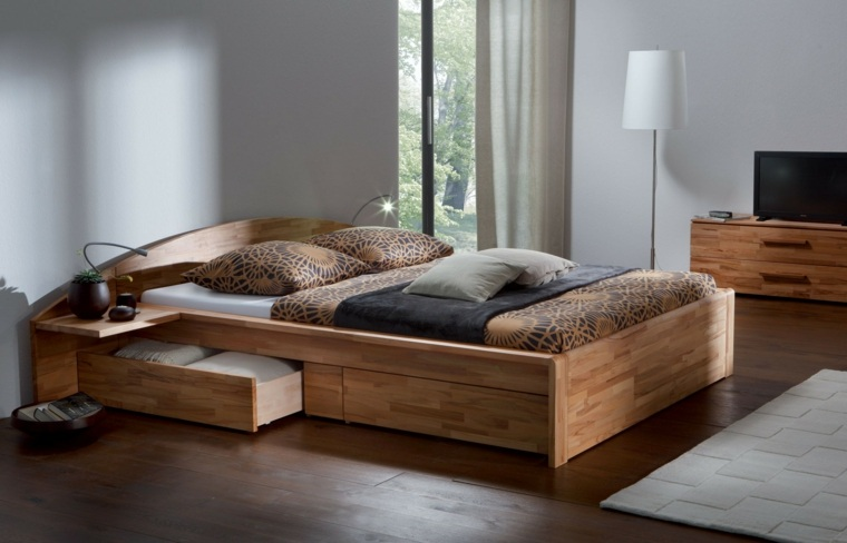 recamaras modernas-cabeceros-madera