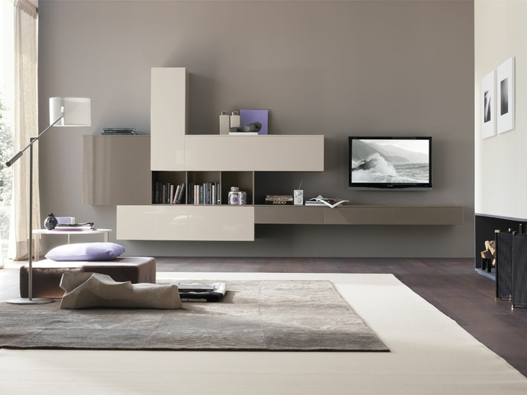Muebles de sala modernos y repisas para libros para decorar for Mobili di design outlet