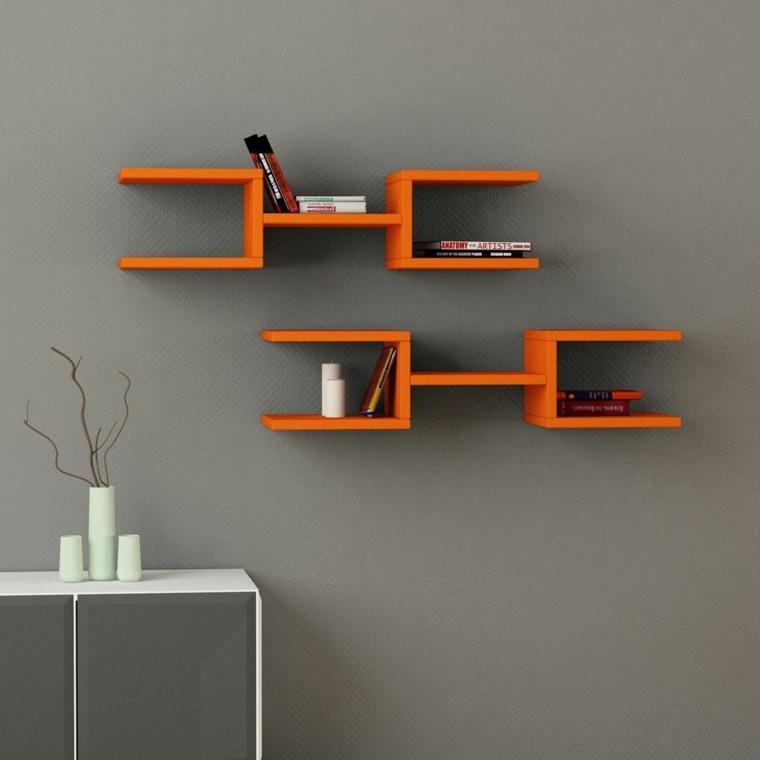 salas modernas-decoradas-repisas-libros
