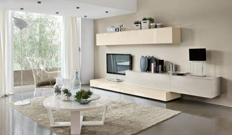 Muebles de sala modernos y repisas para libros para decorar - Colori interni casa moderna ...