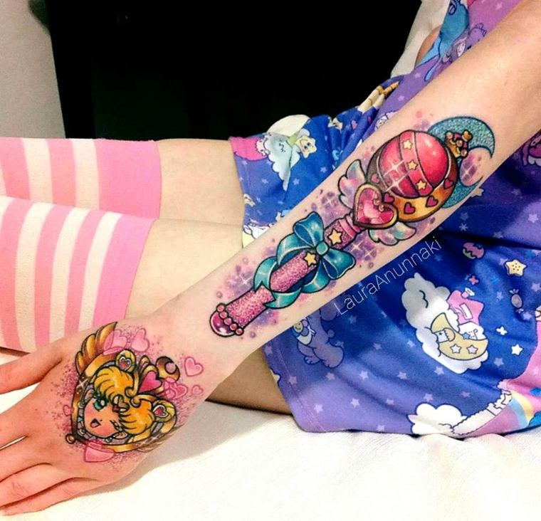 Tatuajes de Laura Annunaki