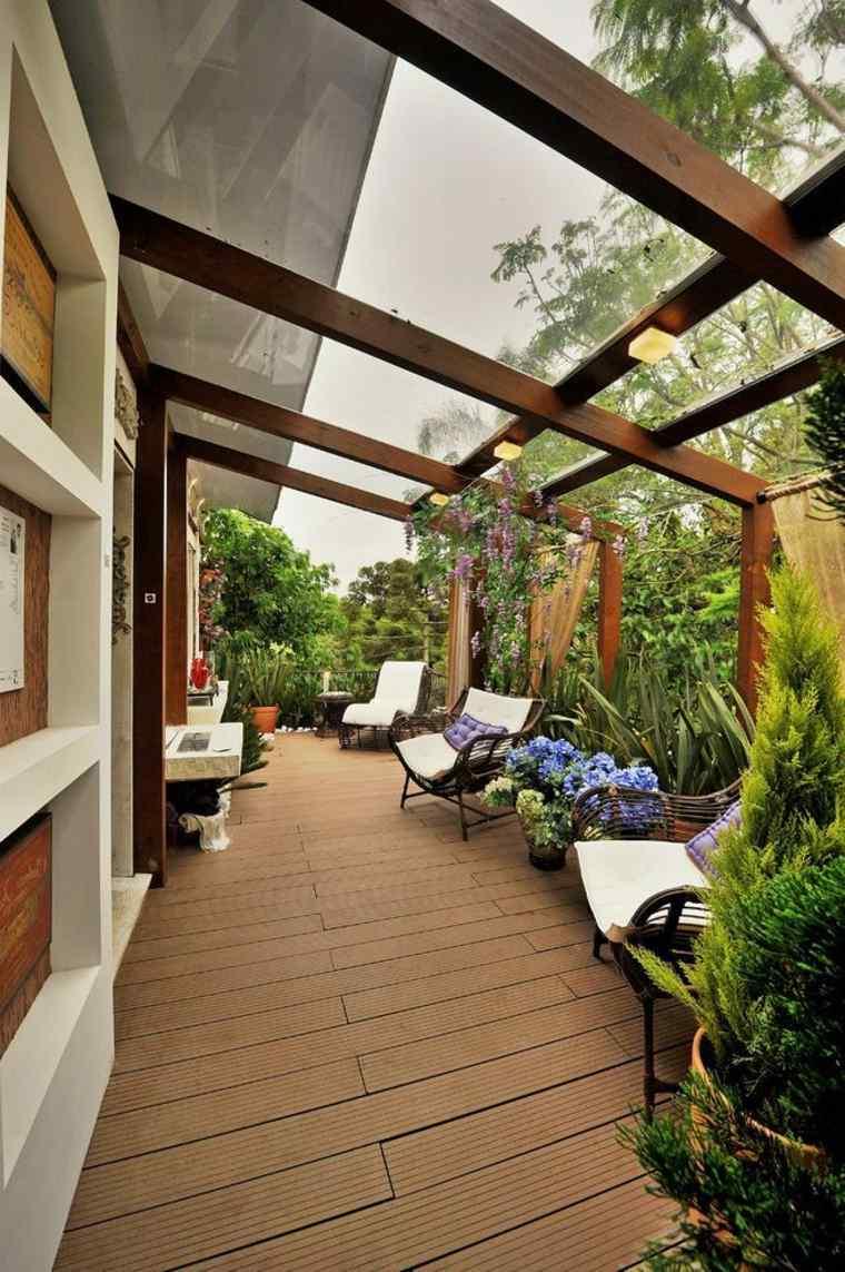 diseños de porches y jardines cubiertos