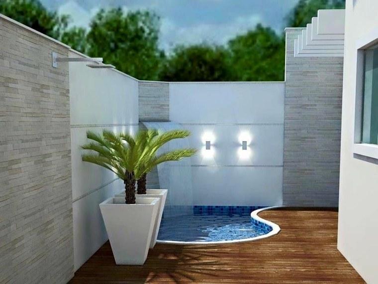 Decoracion de terrazas modernas con diferentes elementos decorativos - Decoracion piscinas pequenas ...