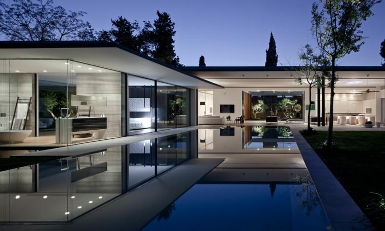 Tipos de arquitectura moderna con piedra metal y cristal - Casas arquitectura moderna ...