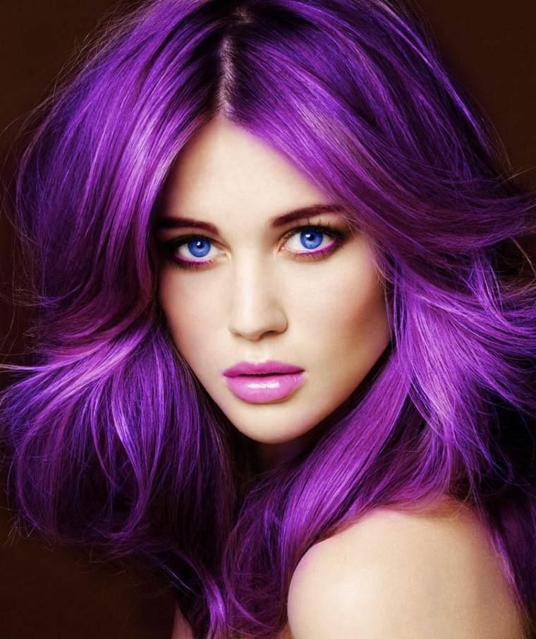 tipos de peinados para mujeres-color-malva