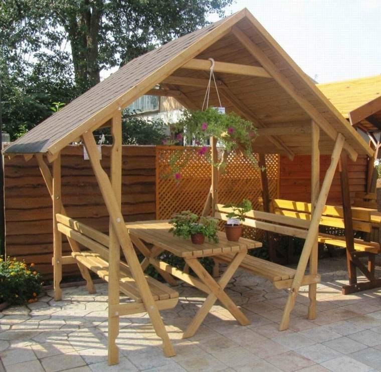 tipos porche para casa-madera-clasico