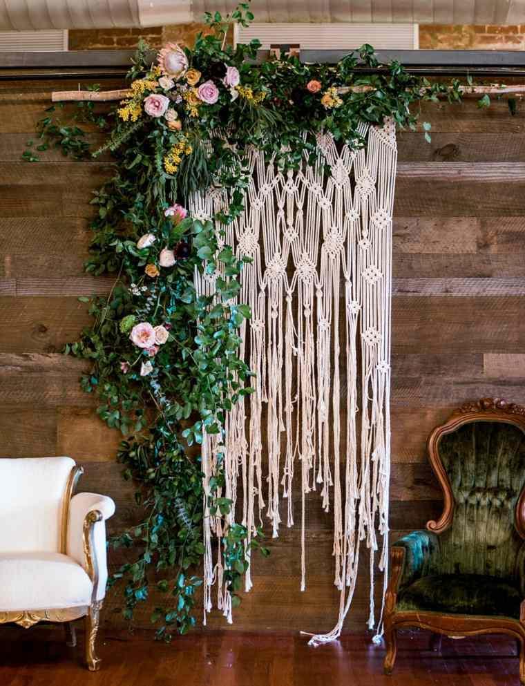 adornos para boda-estilo-bohemio-macrame-decoracion