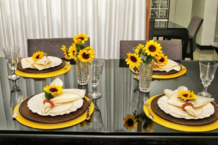 arreglos de girasoles-decoracion-mesas