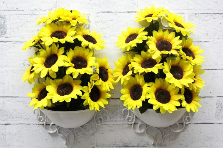 arreglos de girasoles-decorar-paredes