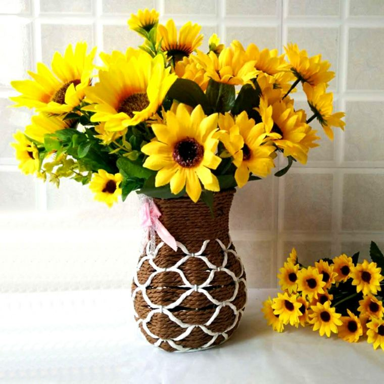 arreglos de girasoles-jarron-decorar-interior