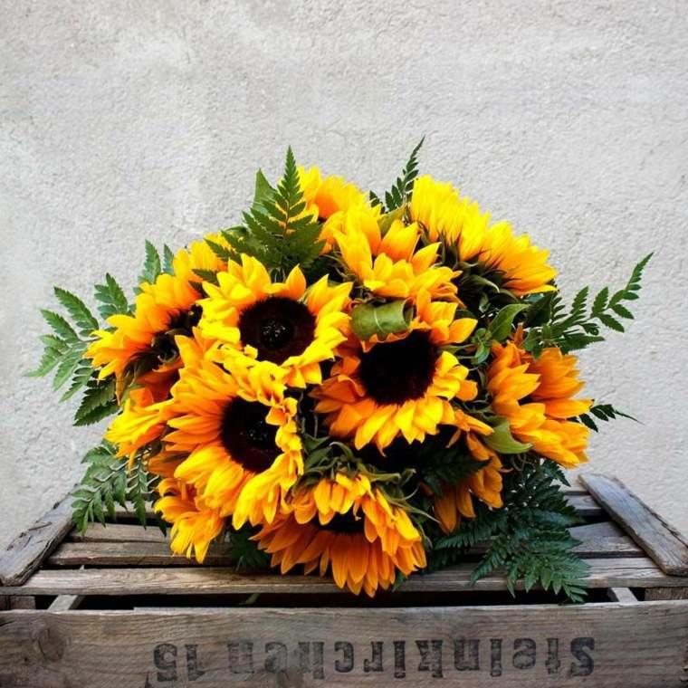 arreglos florales hermoso-girasoles-decorar