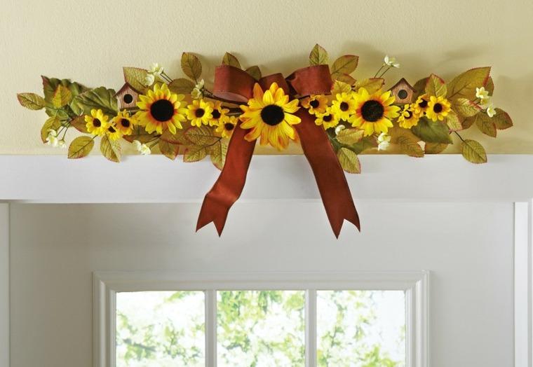 arreglos florales hermosos-girasoles-interior
