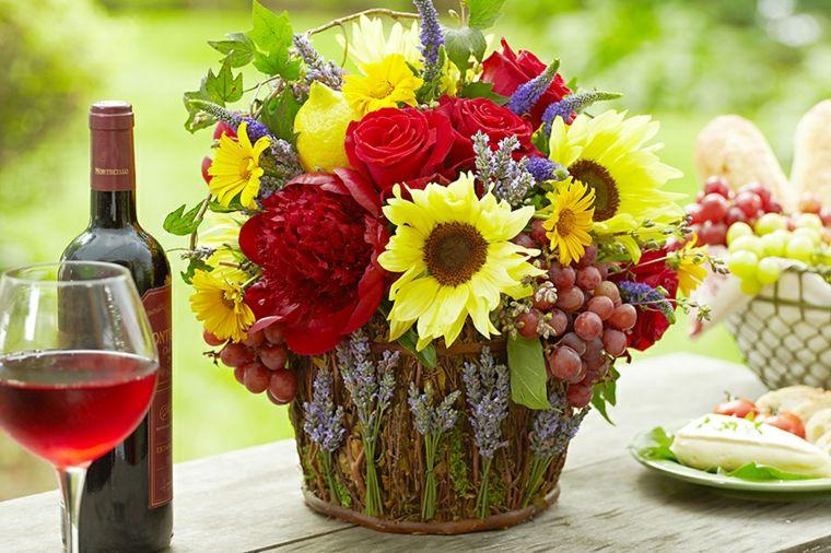 arreglos florales modernos-decorar-mesa