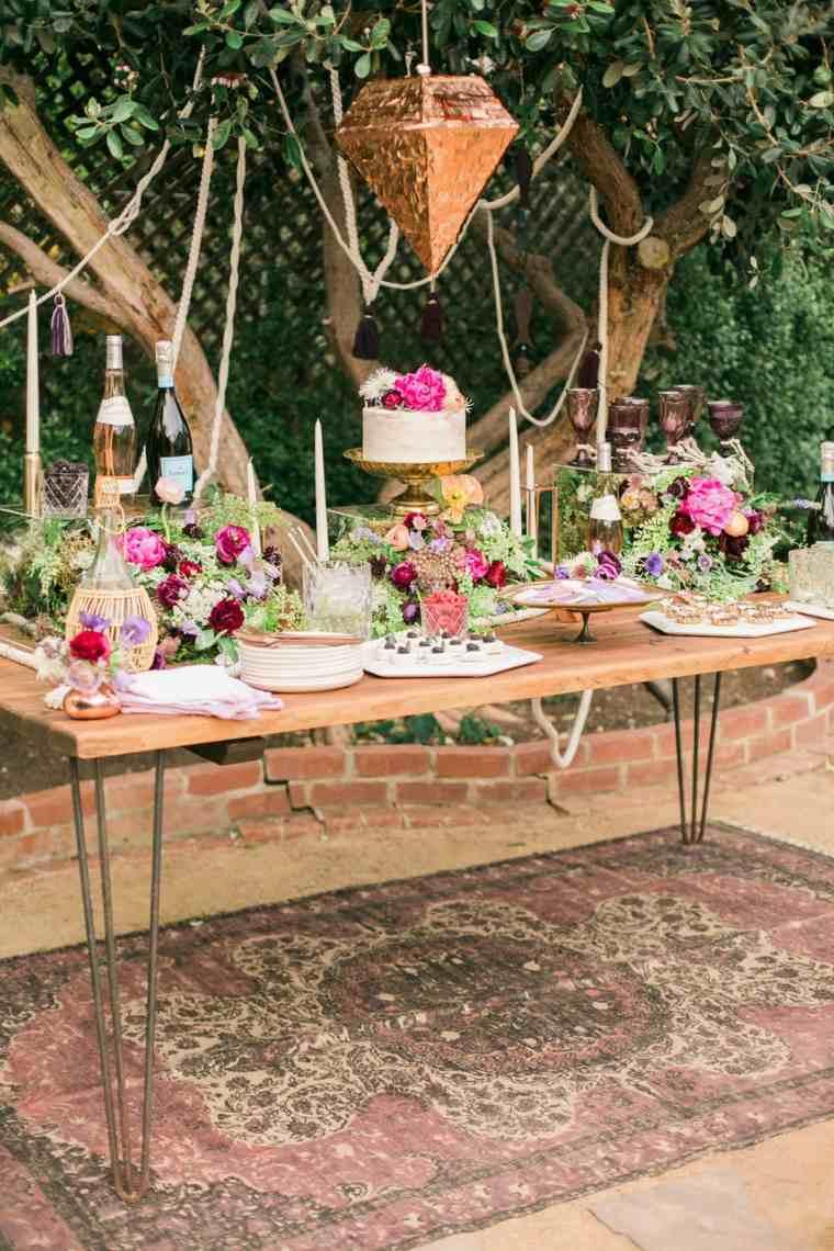 boda-decoracion-estilo-bohemio-mesa-dulces