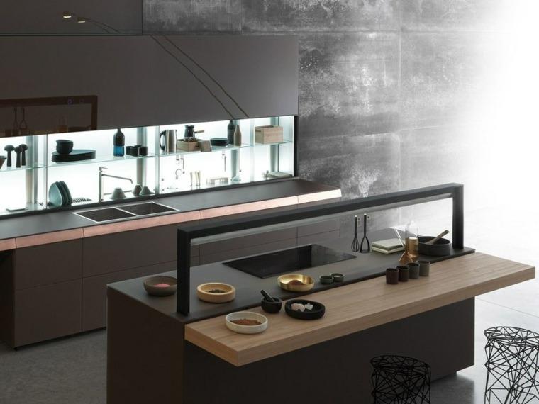 cocina-moderna-isla-estilo-inspiracion-opciones