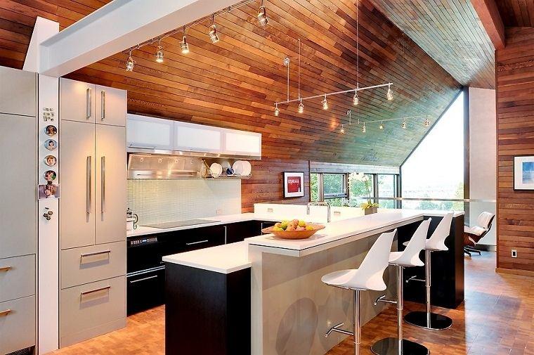 cocina-techo-madera-isla-negra-opciones
