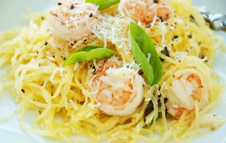 como hacer espagueti-camarones-casa