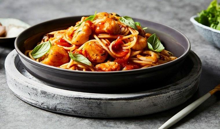 como hacer espagueti-marisco-casa
