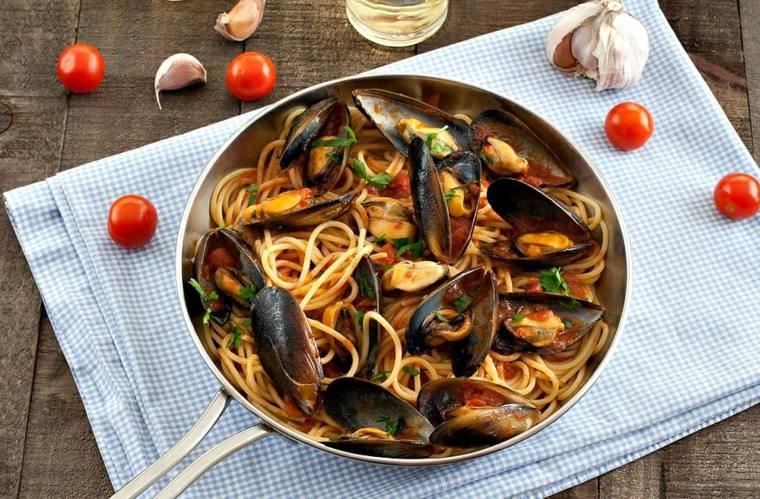 como hacer espagueti-mejillones-casa