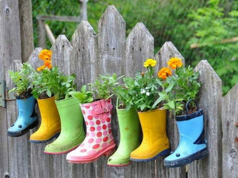 como hacer macetas-originales-modernas-jardines
